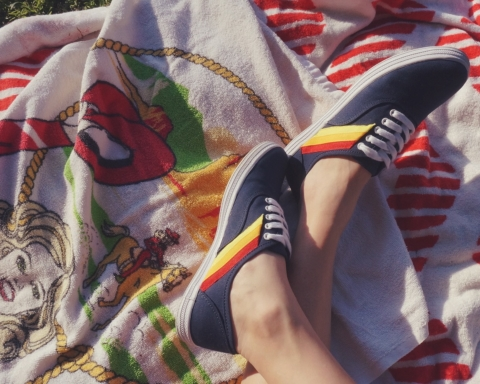 my seventies sneakers at the park