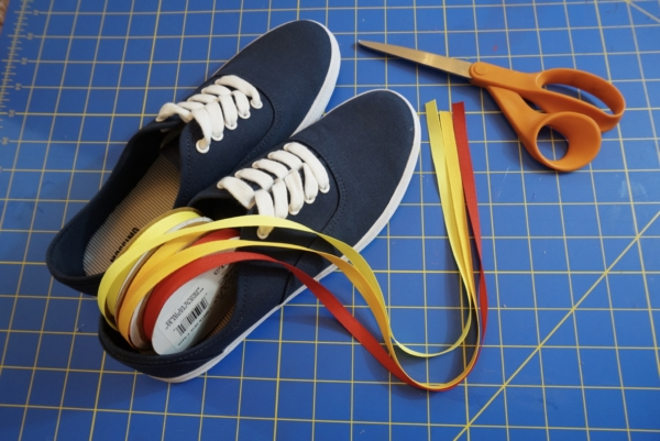 diy 70s sneakers  supplies