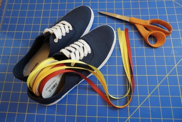 diy 70s sneakers  supplies